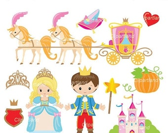 ON SALE INSTANT Download. Ccind_10_Cinderella. Cinderella clip art. Personal and commercial use.