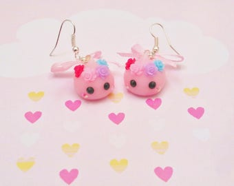 earrings drop kawaii hoppe chan