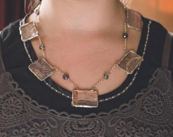 Vintage Poison label necklace