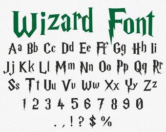 Harry Potter Font SVG Harry Potter Letters SVG Harry Potter Alphabet SVG Harry Potter svg Harry Potter cut file Cricut Silhouette cutting