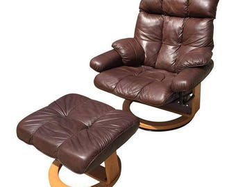 Quick View. Ekornes Style Espresso Leather Chair ...
