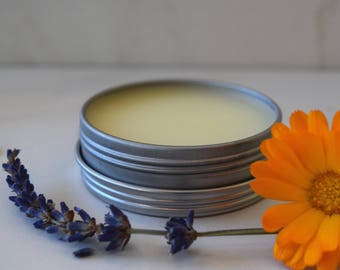 Lavender Calendula Soothing Salve / All Natural Salve / Shea Butter / Almond Oil Salve / Cuticle Healing /Bug Bites / Rash Relief