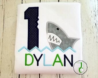 Shark Birthday Shirt - Shark Party, Sea Birthday, Under The Sea Party, Sealife Birthday, Boy Birthday Shirt, Shark Shirt, Summer Birthday