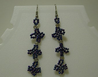 Opaque Cobalt AB Earrings