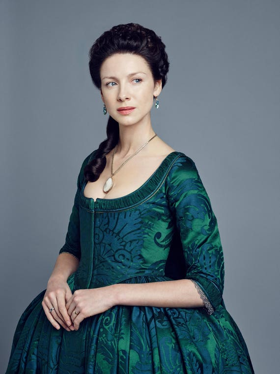 OUTLANDER Claire Fraser Season 2 Green Costume, Custom-made