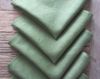 Set of 5 Hand Dyed  Napkins