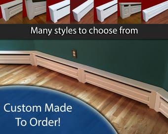Custom Made To Order Baseboard Heater Covers. Choose your style. Best value on the market.