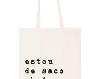 Portuguese tote bag - 'canvas is the new leather' totes; Bag; Beach bag; shopping bag; handbag; purse; cool bag; designer bag;