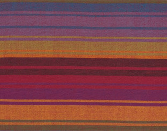 EXOTIC STRIPE PURPLE Woven wexotic.purple  by  Kaffe Fassett fabric sold in 1/2 yard increments