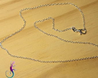 Set of 2 necklaces in silver plated 50cm chain