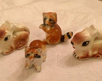Vintage Miniature Menagerie Quartet