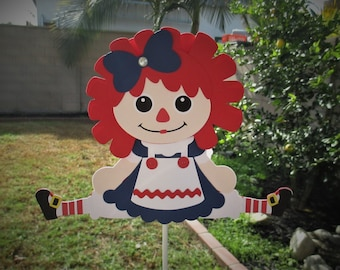 Raggedy Annie Large Centerpiece Topper
