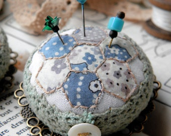 Patchwork Pincushion Brooch, Liberty