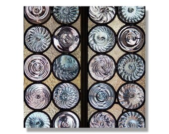 Abstract wall Art, Geometric wall art, Glass Art, blue wall art, reflections, cosmos photography, Fine Art Photography, Wall Art,