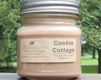 Bougie de soja COOKIE COTTAGE, bougies vanille, épices bougies, bougies cannelle, Cookie bougies, automne bougies, bougies de l'automne, clou de girofle bougies