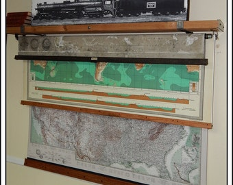 Flat Screeen TV Cover. Large Hanging Map Shelf for Pull Down Maps.  Add On To Your Map Order. Perfect for TV Covers