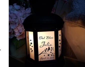 Baptism gift baby lantern Personalized Baby Night light Lantern Baby gift Nursery decor light  unique lamps gift for mom