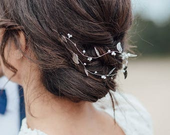 hairvine bridal headband pearls
