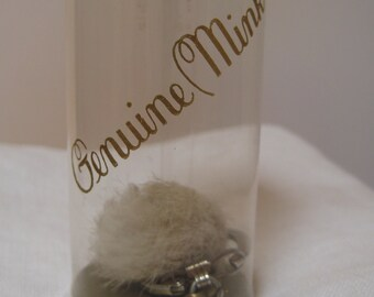 Mink Puff Keychain in Darling Original Box As Is