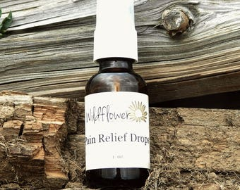 Pain Relief Drops 1 oz bottle with pump