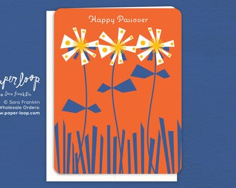 Passover card etsy passover flowers passover passover card paper loop jewish greeting card jewish holiday seder judaica happy passover easter matzo m4hsunfo