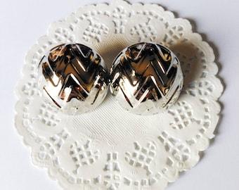 Round silver earrings/ vintage silver earrings/ vintage jewelry/ vintage stud earrings