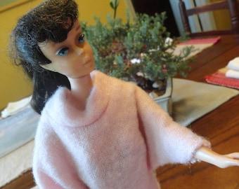 Genuine BARBIE Pink Sweater Vintage Doll Clothing