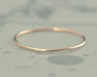 Tiny Rose Gold Ring~Rose Gold Band~Thin Gold Band~Thin Gold Ring~Tiny Spacer Ring~Tiny Stacking Ring~Full Round Band~Thin Round Band