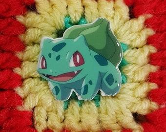 Cute Bulbasaur brooch/ pin badge - Pokemon go