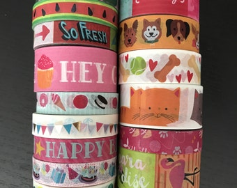 "CLEARANCE! 18""/24"" SAMPLES of craft smith assorted washi tape (M155)"