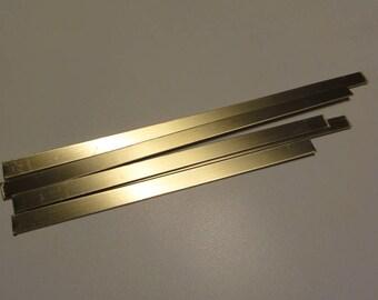 "Brass .040"" / 18 ga -- .375"" wide strip variety pack 6"" long -8 "" long"
