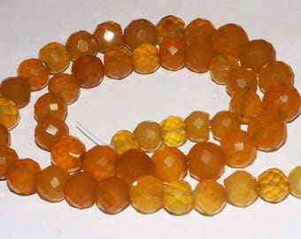 525 cts 100% Natural Yellow Chalcedony Faceted Loose Beads