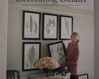 Martha Stewart Decorating Details 1998, Martha Stewart, Decorating Books, Home Decorating Ideas