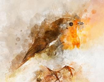 Little Robin - Digital Download - Digital Art