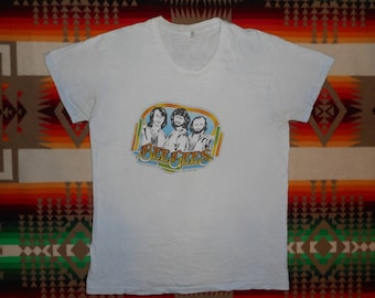 70s BEE GEES T Shirt Size Medium Disco
