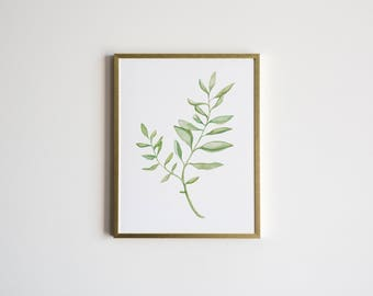 Watercolor Botanical Illustration • Unique Greenery Painting • Whimsical Botanical Fern Plant Watercolor Art •Home Decor Print •Floral Art