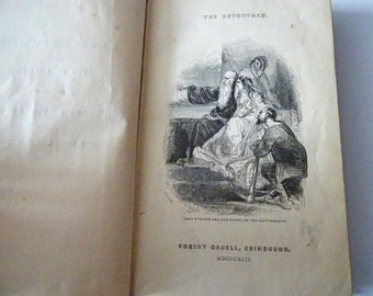 1842 Vol XIX Walter Scott's Waverley Novels Tales of the Crusaders -Betrothed, Highland Widow. Rare Published by Robert Cadell, Edinburgh