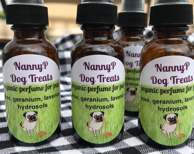 Organic Dog Perfume And Flea Deterrent -Certified Aromatherapist
