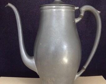 Pewter Teapot Pewter Coffeepot Vintage Pewter
