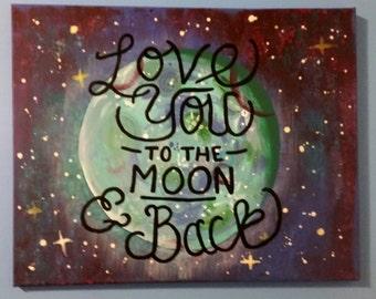 Canvas Art: Moon & Back
