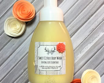 Sweet Citrus Body - Organic Skin Care, Gifts for Her, Mother's Day, Birthday Gift, Shower Gift, Skin Care, Organic, Essential Oils