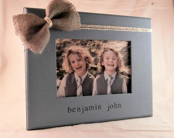 Personalized baby boy Gift for new mom Personalized baby boy picture frame 5 x 7