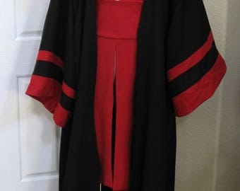 Sith Acolyte costume robe with red tabards and a sash, 4 pieces in several sizes