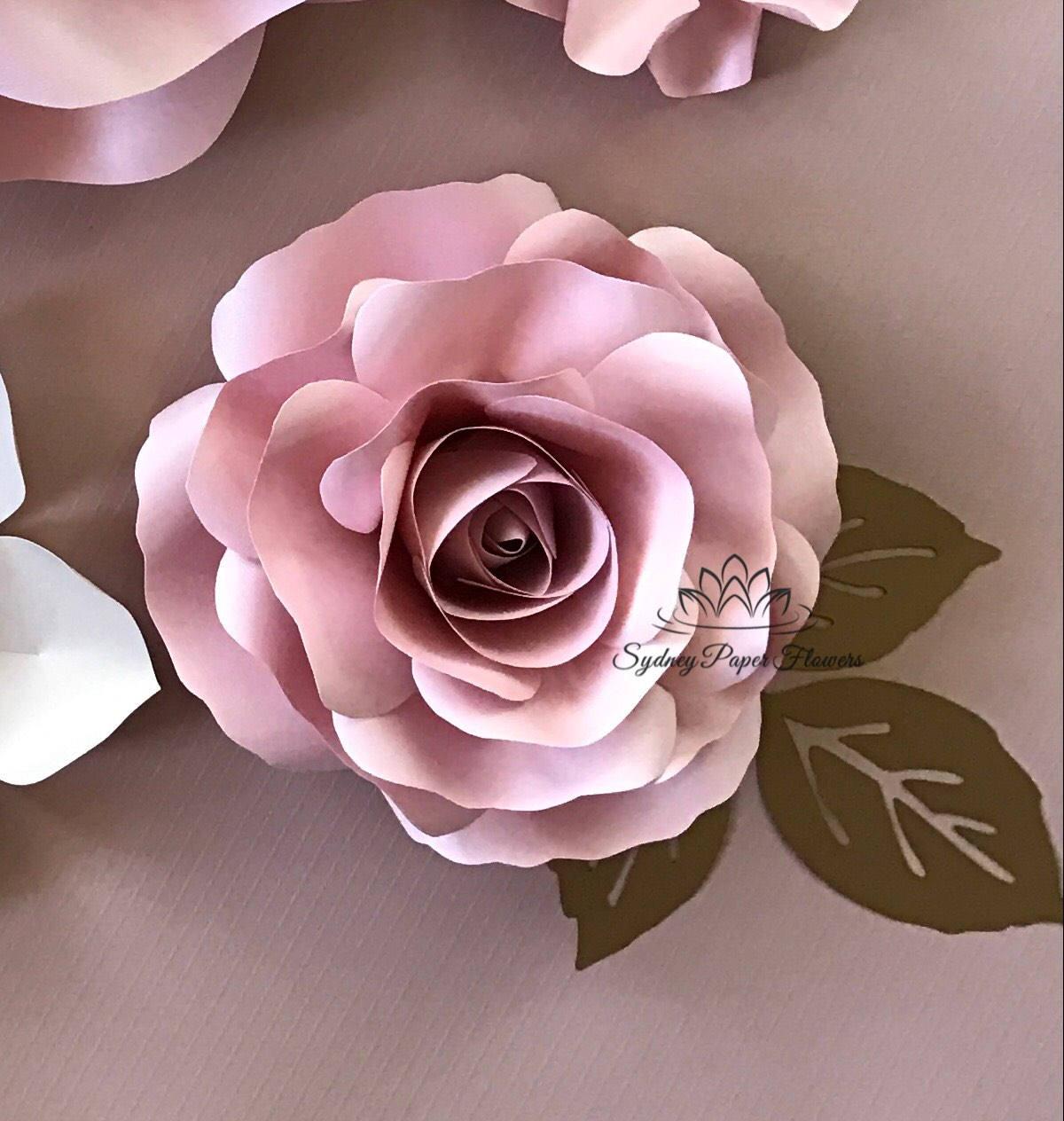 Video tutorial template rose bud paper flowerpaper flower zoom mightylinksfo