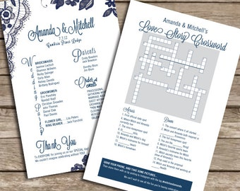 Custom Crossword Puzzle / Program - Instant Download & Print!