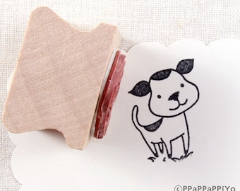 50% OFF SALE Happy dog Rubber stamp