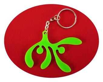 Mistletoe Lucky Charm Bag Dangler Key Ring