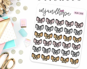 Little Shimmer Bow Stickers
