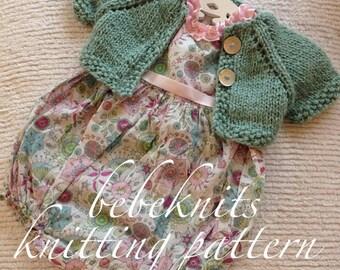 Bebeknits Sweet Summer Time Baby Cardigan Knitting Pattern