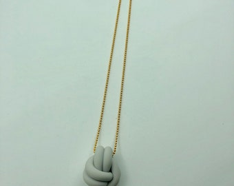 Biddy Knot Necklace | Oslo Grey